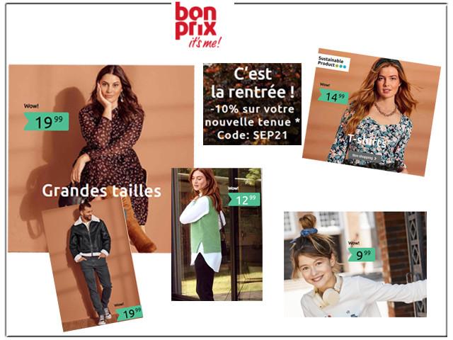 BONPRIX, SOLDES - Mode et Maison jusqu'à -60%