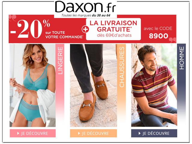 DAXON - REDUCTION JUSQU'A -50% SUR LA MODE, MAISON, CHAUSSURES