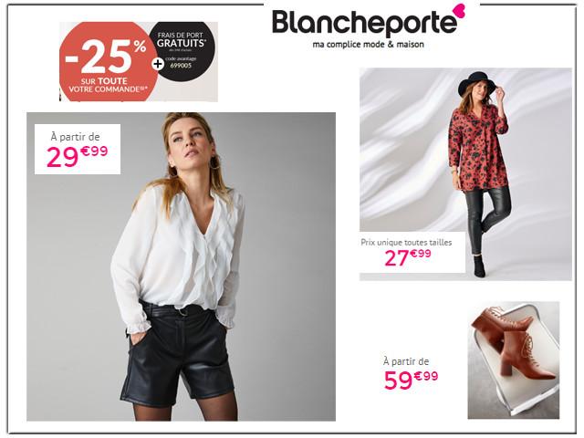 BLANCHEPORTE - Mode pour toutes les tailles jusqu'à -40% + Frais de port gratuits