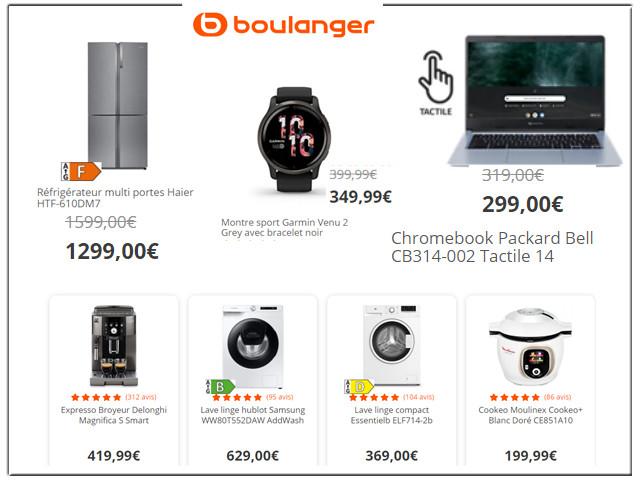 BOULANGER - Electroménager et Multimédia - SOLDES