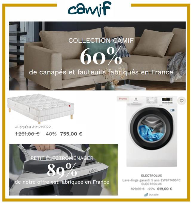 CAMIF - Soldes jusqu'à -50%