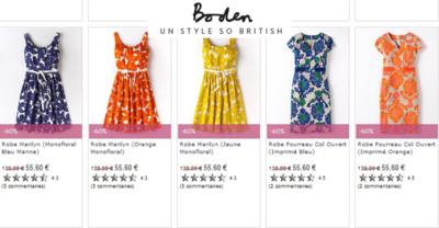 Les robes Boden, et leur style British