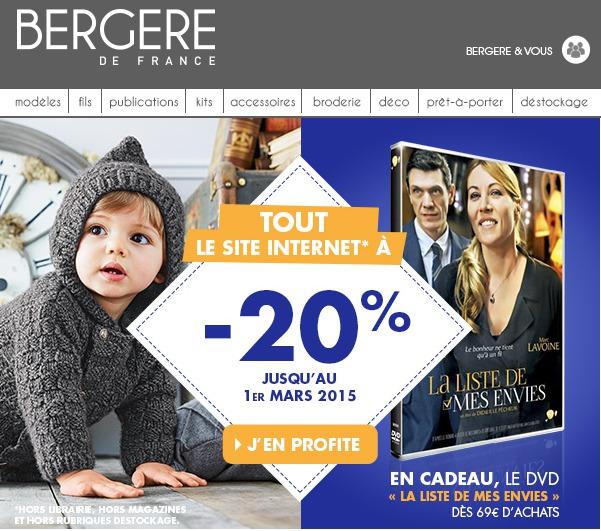 Réductions + cadeau offert avec Bergère de France