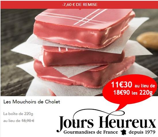 Les délicieux mouchoirs de Cholet