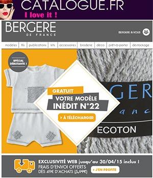 fiche tricot bergere de france gratuite sur catalogue fr. Black Bedroom Furniture Sets. Home Design Ideas