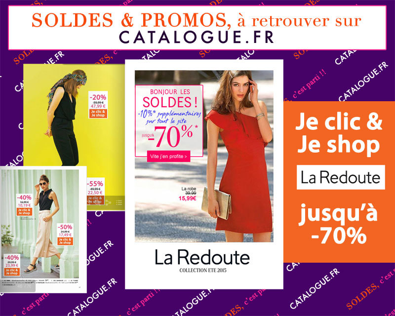 soldes la redoute mode jusqu 39 70 en ligne sur. Black Bedroom Furniture Sets. Home Design Ideas