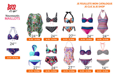 Faites monter les températures avec les Maillots de bain Bonprix - notre sélection à -30€ !!