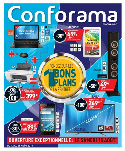 soldes sp ciales rentr e conforama pc imprimantes high. Black Bedroom Furniture Sets. Home Design Ideas