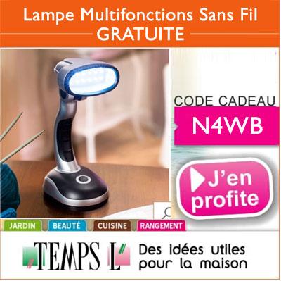 La lampe multifonction sans fil en cadeau !