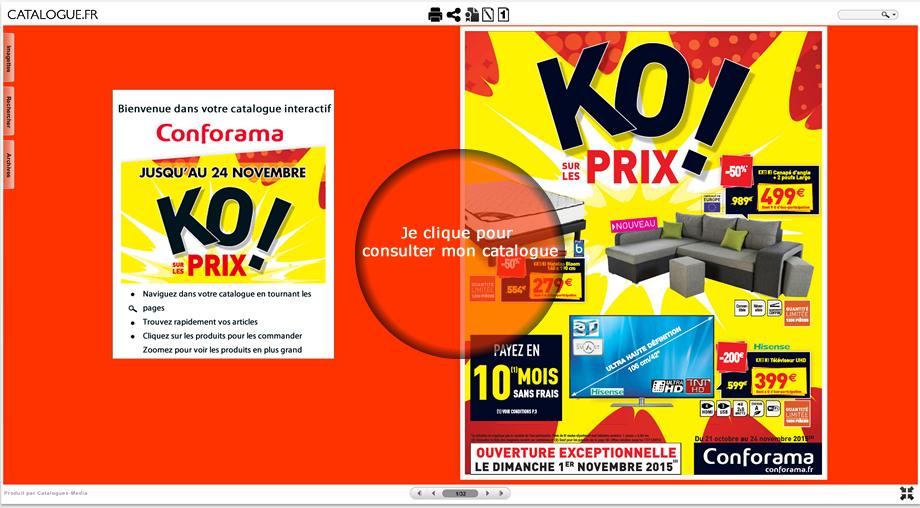 Nouveau Catalogue CONFORAMA : KO ! sur les Prix