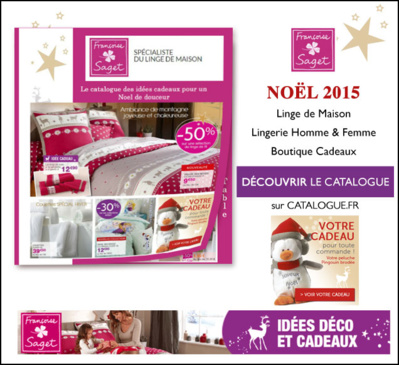 Toute la famille à l'honneur avec le shopping Noël dans le nouveau catalogue Françoise Saget !