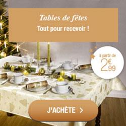 Les tables de fêtes, pour recevoir vos invités
