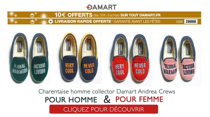 On adore, la charentaise collector et colorée DAMART !