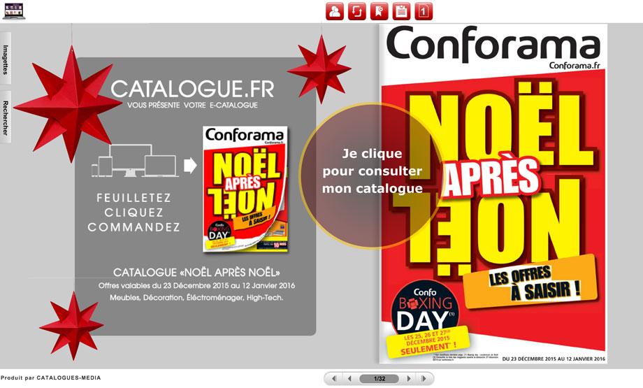 Cliquez pour ouvrir votre e-catalogue CONFORAMA