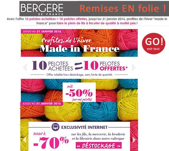 BERGERE DE FRANCE, vous offre 10 pelotes gratuites !