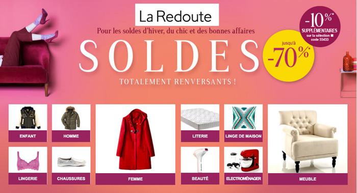 La Redoute, AM-PM, Saget, Anne Weyburn.. Notre TOP 5 des SOLDES en ligne