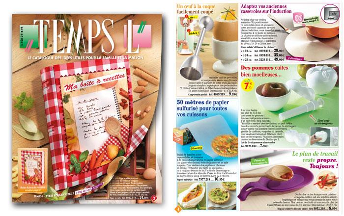 Le catalogue Temps L - Des bonnes idées qui vous facilitent la vie !
