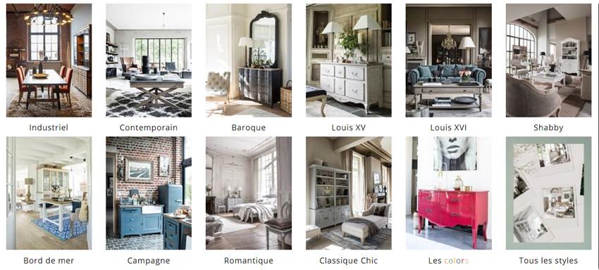 Découvrez tous les styles de mobilier en cliquant ici