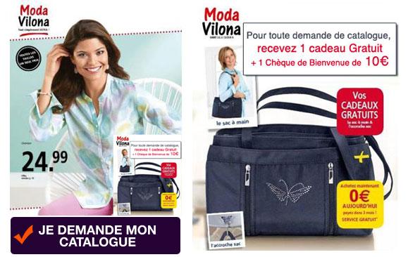 MODA VILONA, 1 nouveau catalogue + 1 cadeau offert