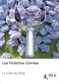 Les bonbons à la violette