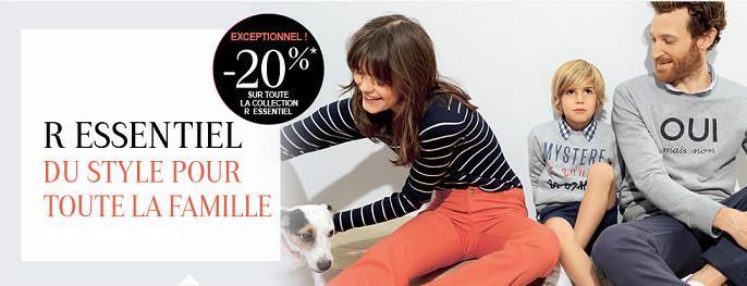 -20% sur la nouvelle collection R Essentiel de La Redoute !