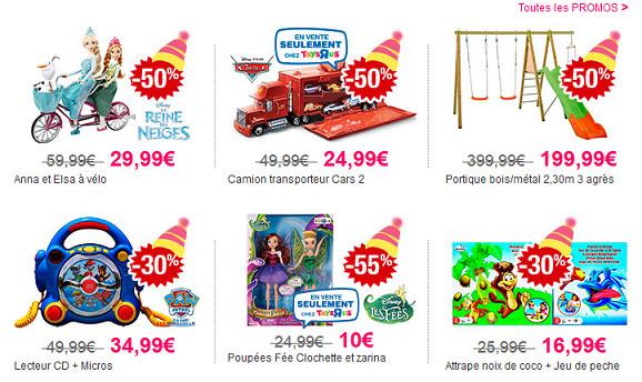 Toute une sélection de jouets à prix réduits