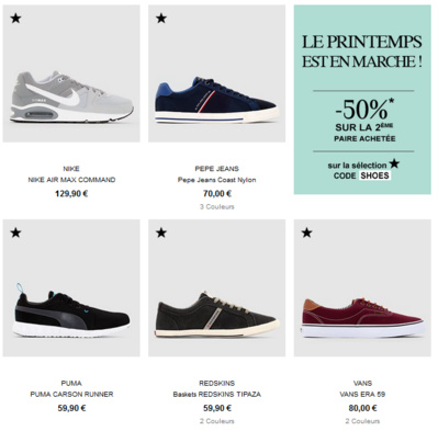 Les chaussures homme