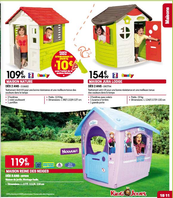 awesome des maisons et des tentes with maisonnette plastique king jouet. Black Bedroom Furniture Sets. Home Design Ideas