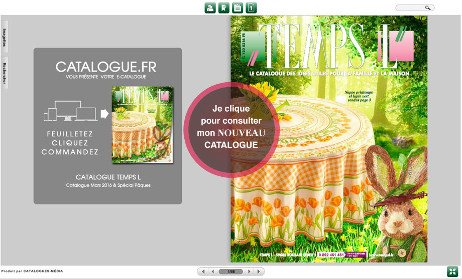 Voir le catalogue TempsL en ligne.
