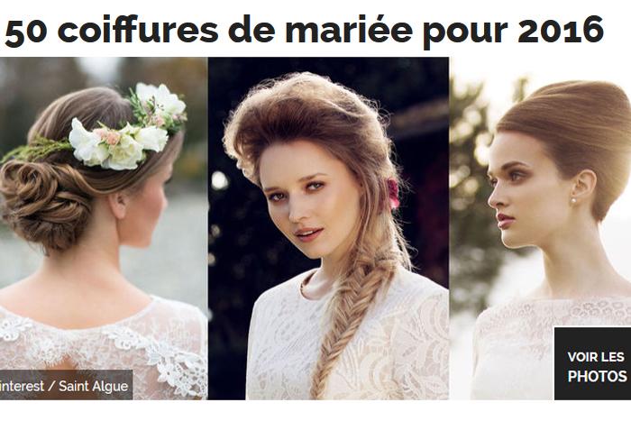 Voir les coiffures de mariée pour 2016