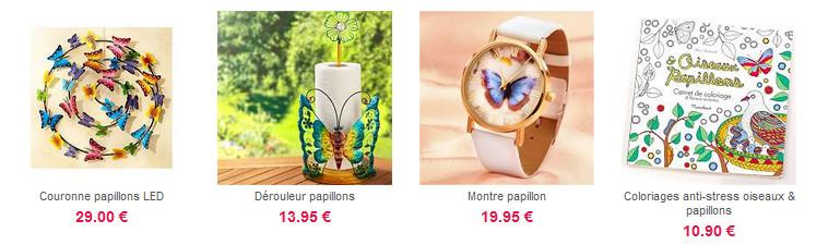 Plein d'accessoires papillons !