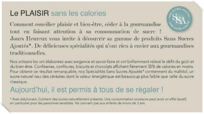 Le plaisir, sans les calories