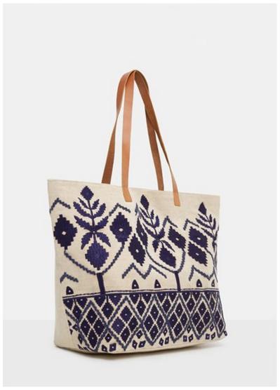 Le sac Shopper brodé