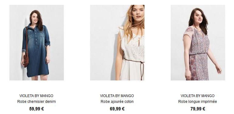 Les robes Violeta by Mango sur la redoute