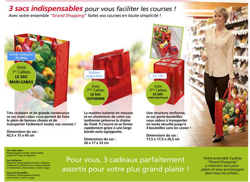 Trois sacs indispensable pour vous faciliter les courses !
