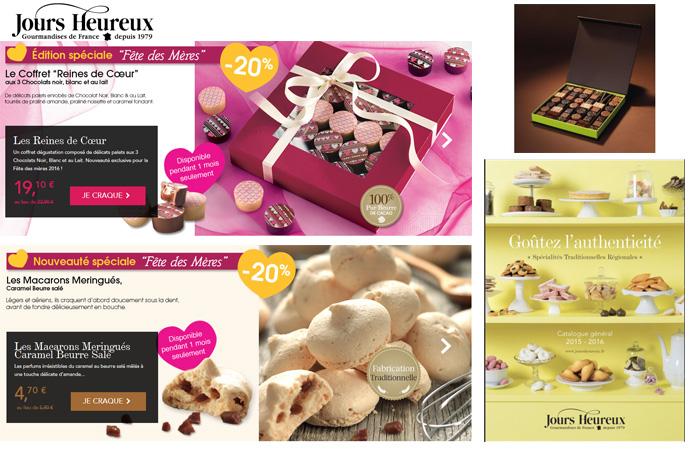 Je souhaite commander des chocolats sur le catalogue Jours Heureux.