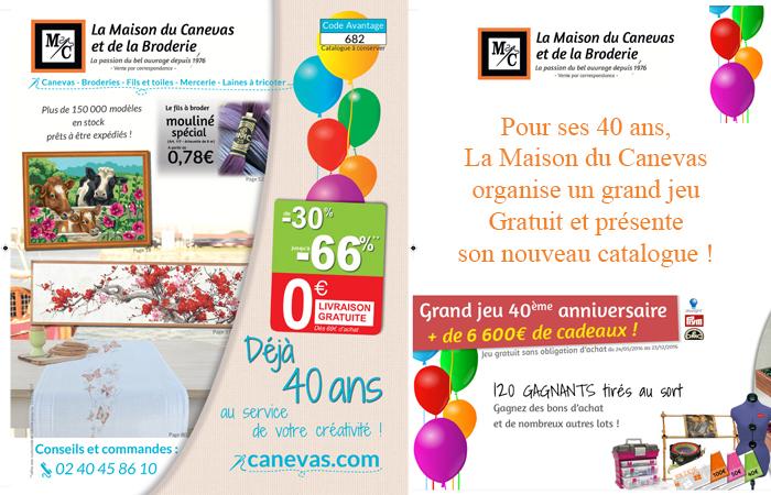 Le grand jeu du 40e anniversaire de la Maison du Canevas