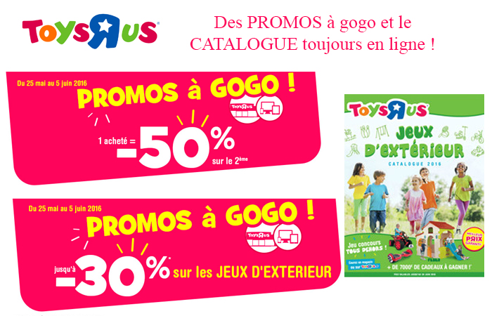 Toys'R'us : Les Promos à gogo sur votre catalogue, jusqu'au 5 juin ! Profitez-en !