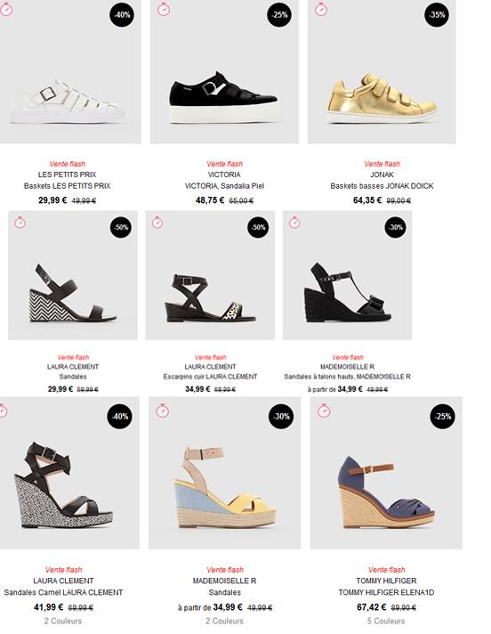 Une petite sélection de chaussure pour vous donner une idée...