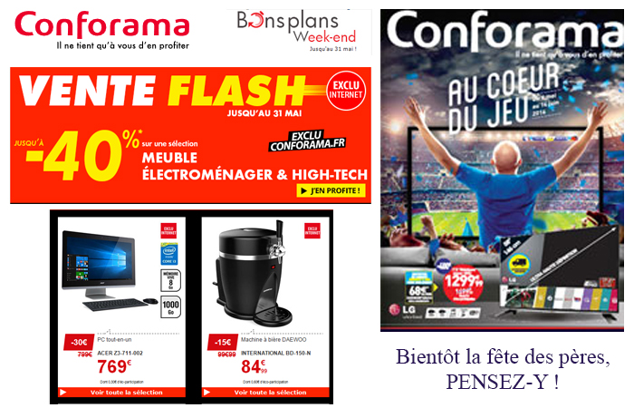 Les ventes flash du catalogue Conforama
