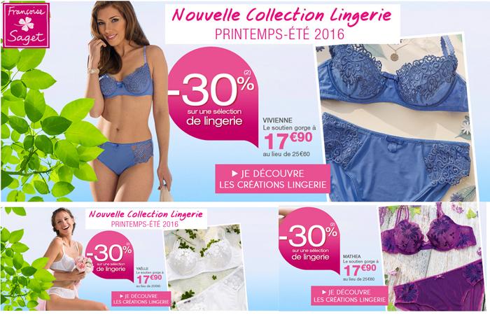 La nouvelle collection lingerie Françoise Saget.