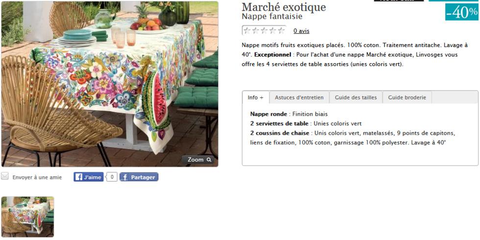 catalogue linvosges linge de maison. Black Bedroom Furniture Sets. Home Design Ideas