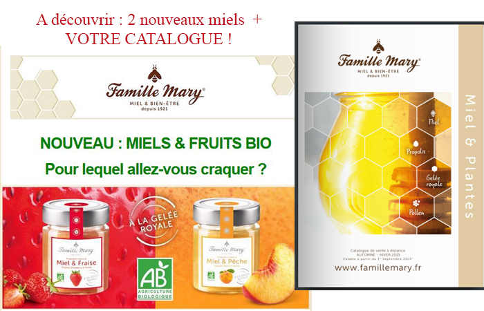 Nouveauté sur votre catalogue Famille Mary : 2 nouveaux miels à goûter très vite !