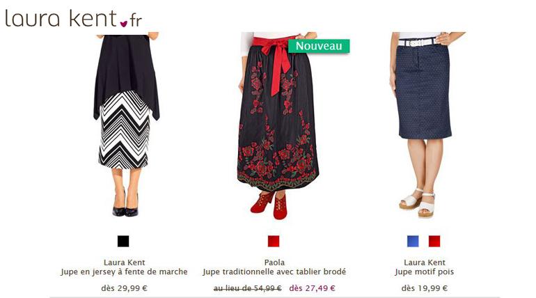 Voir toutes les jupes du catalogue Laura Kent ici.