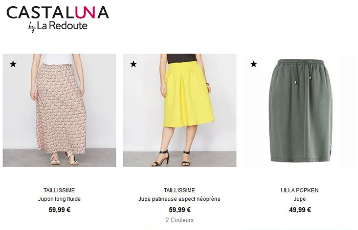 Les jupes Castaluna, pour celles qui ont de belles courbes !