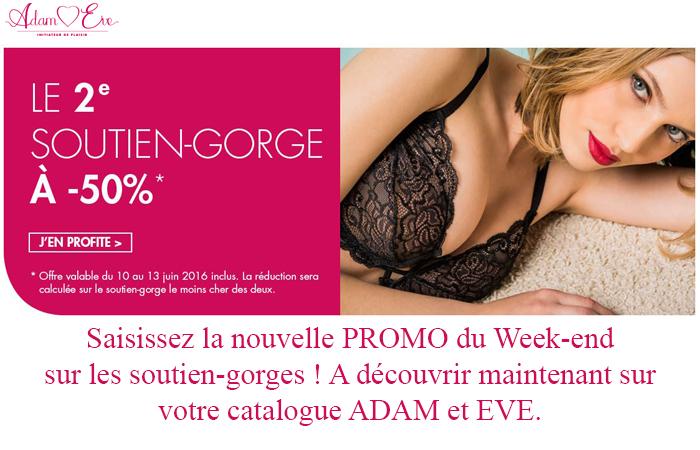 Adam et Eve, nouvelle promo du week-end sur votre catalogue !