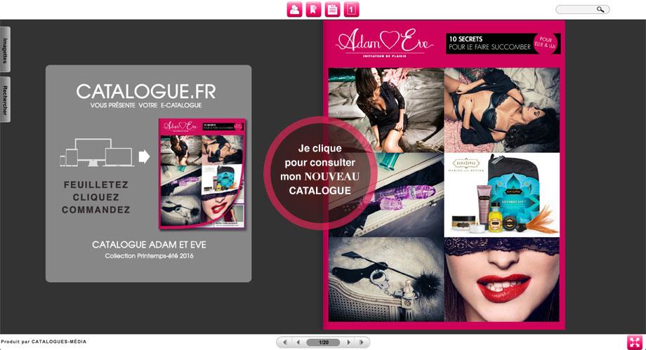 Je clique ici pour voir le catalogue en ligne.