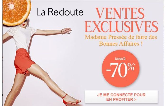 Les ventes exclusives la Redoute