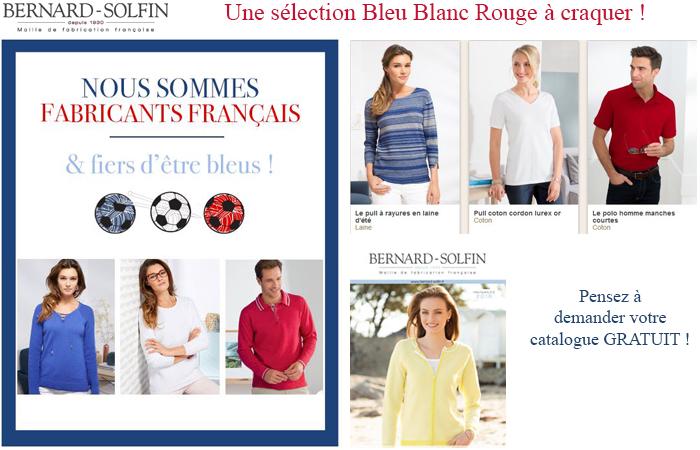 Bleu, blanc, rouge : allez les bleus avec le catalogue Bernard Solfin !