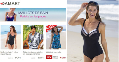 Soyez parfaites sur les plages avec les maillots de bain Damart !